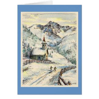"""Paul McGehee """"Zallinger Chapel"""" Xmas Card -Italian"""