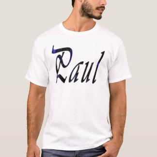 Paul, Name, Cursive Logo, T-Shirt