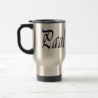 Paul Name Male Logo, Travel Mug