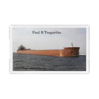Paul R. Tregurtha acrylic tray