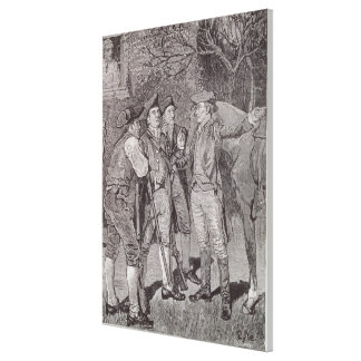 Paul Revere at Lexington Canvas Print