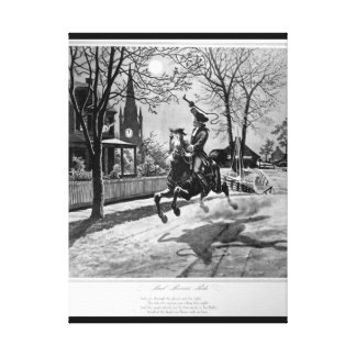 Paul Revere's Ride.  1775_War Image Canvas Print