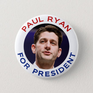Paul Ryan For President 2 Inch Round Button