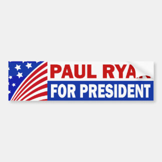 Paul Ryan For President Bumper Sticker