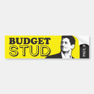 Paul Ryan is a budget Stud Bumper Sticker! Bumper Sticker