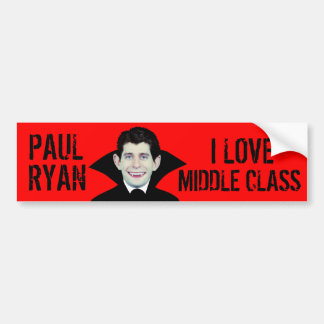 Paul Ryan Loves Middle Class Bumper Sticker