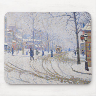 Paul Signac - Snow, Boulevard de Clichy, Paris Mouse Pad