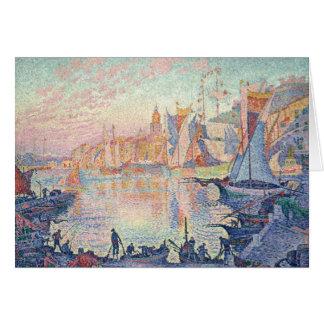 Paul Signac - The Port of Saint-Tropez Card
