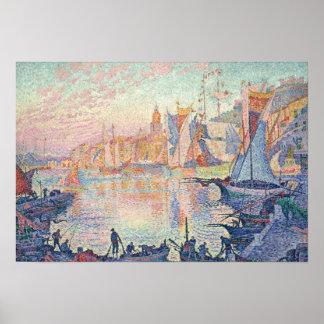 Paul Signac - The Port of Saint-Tropez Poster