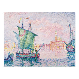 Paul Signac- Venice, The Pink Cloud Postcard