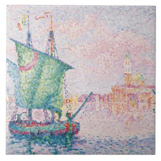 Paul Signac - Venice, The Pink Cloud Tile