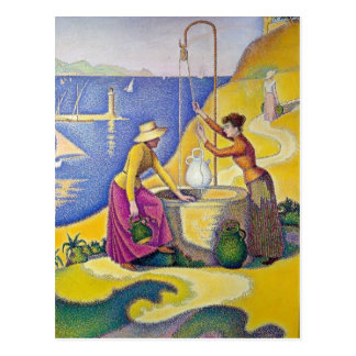 Paul Signac- Young Women of Provence at the Well Postcard