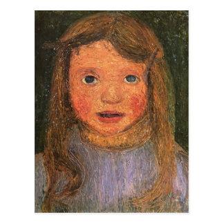 Paula Modersohn-Becker- Head of a little girl Postcard