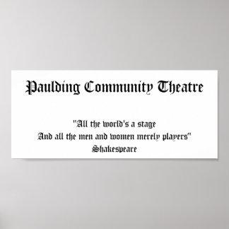 Paulding Community Theatre Poster