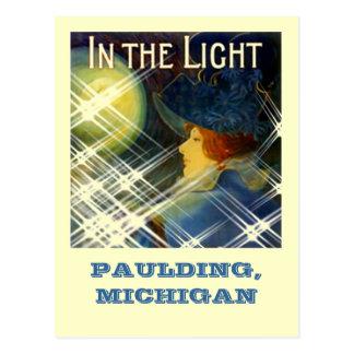 PAULDING GHOST LIGHT ~WOMAN IN THE LIGHT-POSTCARD! POSTCARD