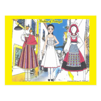 Paulina of Portugal Paper Doll Postcard