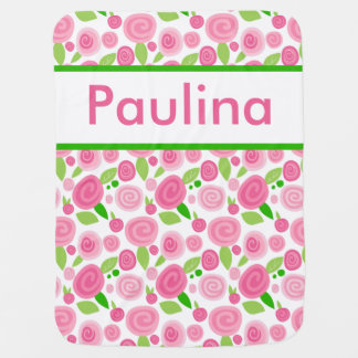 Paulina's Personalized Rose Blanket