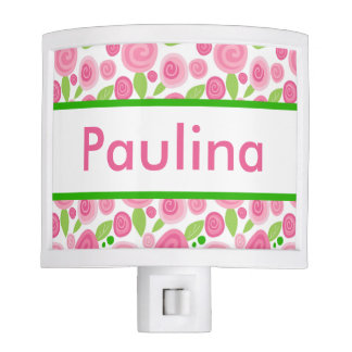 Paulina's Personalized Rose Nightlight Nite Lites