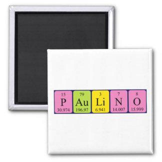 Paulino periodic table name magnet