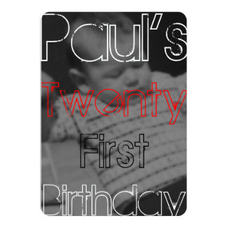 Paul's Twenty First Invitation