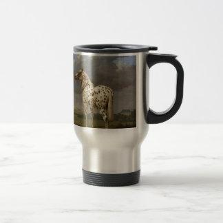 "Paulus Potter - The ""Piebald"" Horse. Vintage Image Travel Mug"