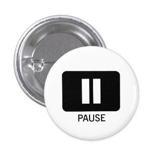 Pause 1 Inch Round Button