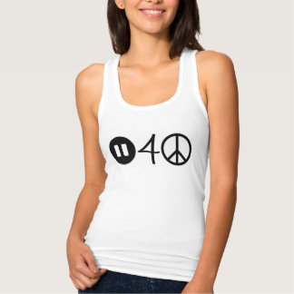 Pause for peace racerback tank top