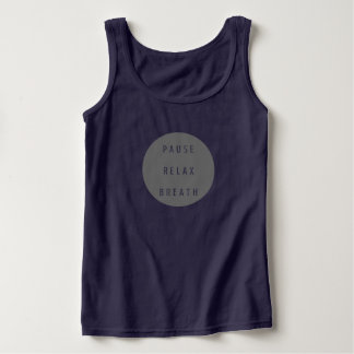 Pause Relax Breath Women Tank Top