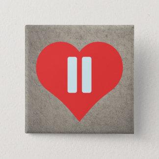 Pause Symbols Pictogram 2 Inch Square Button