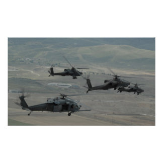 Pave Hawks and Apaches Poster