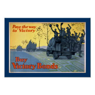 Pave The Way To Victory (border) Poster