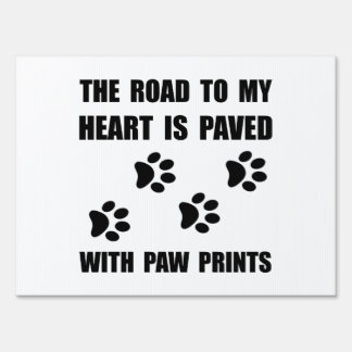 Paved Paw Prints Sign