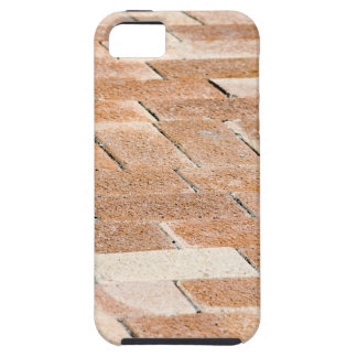 Pavement of brown tiles - close up view iPhone 5 cases