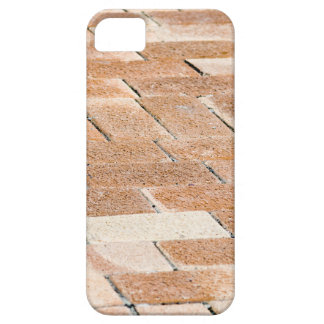 Pavement of brown tiles - close up view iPhone 5 cover