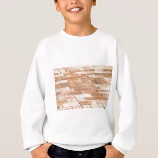 Pavement of brown tiles - close up view sweatshirt