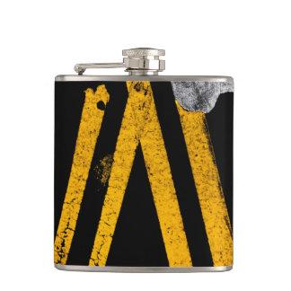 Pavement Road Traffic Marking Lines - Cool - Fun Hip Flask