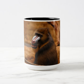 Pavian/Baboon Two-Tone Coffee Mug