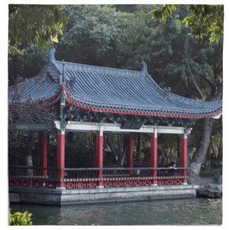 Pavilion, Lake Ronghu, Guilin, China Napkin