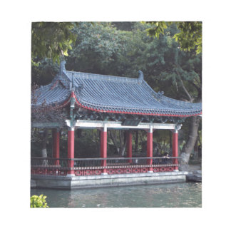 Pavilion, Lake Ronghu, Guilin, China Notepad