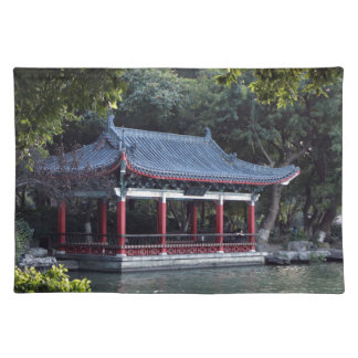 Pavilion, Lake Ronghu, Guilin, China Placemat