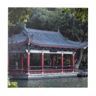 Pavilion, Lake Ronghu, Guilin, China Tile