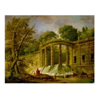Pavilion with Cascade, 1760 Postcard
