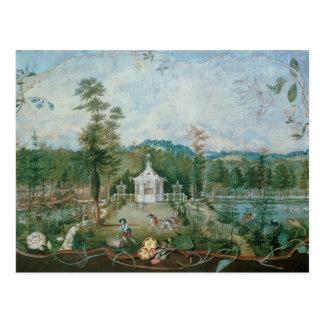 Pavillon chinois dans un jardin anglais, 18ème carte postale