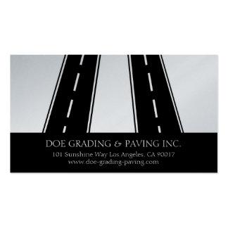 Paving Grading Contractor Asphalt Roads Platinum Business Card
