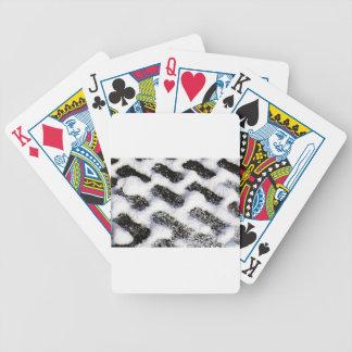 paving pattern bicycle playing cards