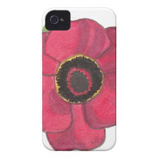 Pavot rouge étuis iPhone 4