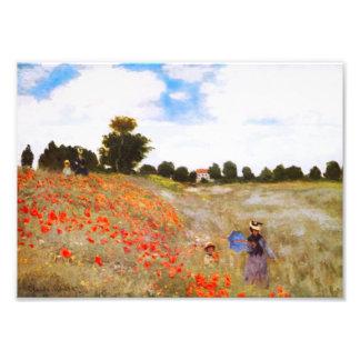 Pavots de Monet Photo D'art