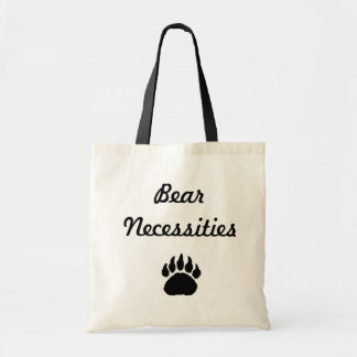 paw, Bear Necessities Tote Bag
