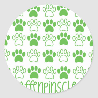 Paw by Paw Affenpinscher Round Sticker