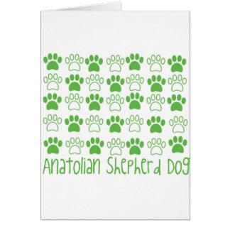 Paw by Paw Anatolian Shepherd Dog Greeting Card